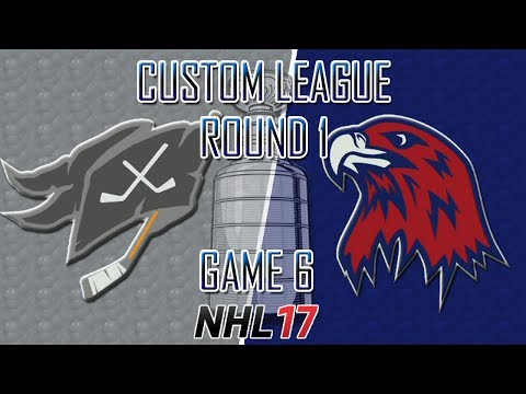NHL 17 - Custom League - North Dakota @ Winnipeg Round 1 Game 6