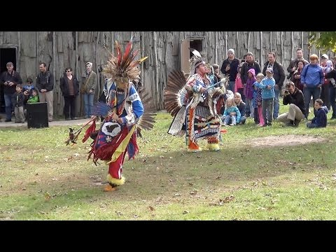 First Nations Dancers at Crawford Lake Iroquoian Village, Milton, Ontario Canada