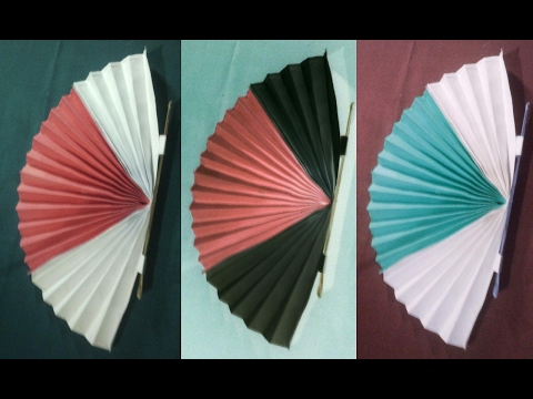 How to make a Chinese Fan,DIY Decorated Paper Fan Backdrop Origemi