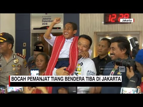 Image of Joni, Bocah Pemanjat Tiang Bendera Tiba di Jakarta