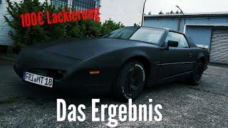 Eine Autolackierung für unter 100€ | Projekt Blackbird #3 | Der Lack ist fertig!