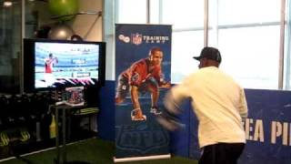 Deion Sanders plays EA Sports Active NFL Training Camp