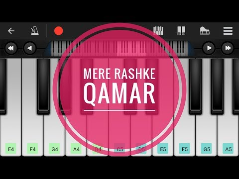 Mere Rashke Qamar | tutorial | on perfect piano instrumental.