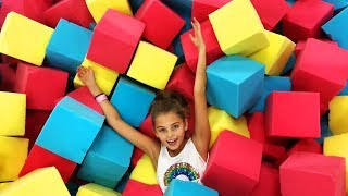 Fun indoor playground For Family and Kids. Toys & Nursery Rhyme Songs.