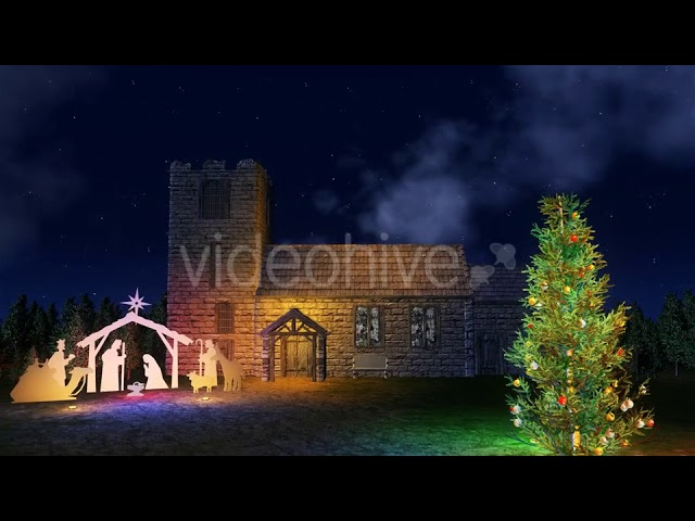 21130126 christmas tree with native in church front by futurapro preview