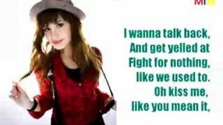 Get Back Karaoke - Demi Lovato (with NICK JONAS?)