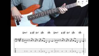 Earth, Wind & Fire - September (Bass cover with tabs in video)