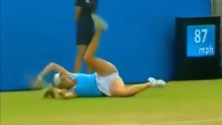 Caroline Wozniacki Funny Moments  She is always doing some thing   YouTube