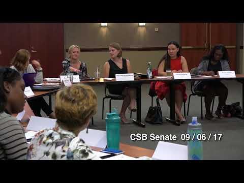 CSB Senate Meeting on 09 / 06 / 2017