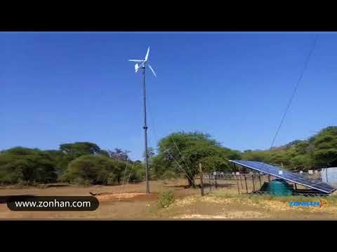 zonhan 3kw wind solar hybrid system is very good product and popular in Australia