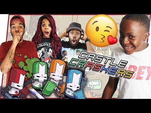 TRENT GETS HIS FIRST KISS! - Castle Crashers Gameplay