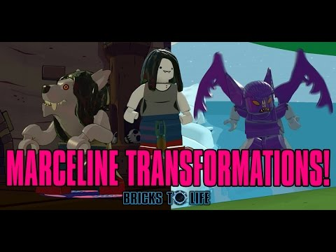 Download Marceline The Vampire Queen TRANSFORMATIONS! Flying Bat & Werewolf! - Lego Dimensions Adventure Time