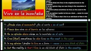 Spanish - where do you live 1