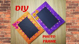 DIY|Quick& Easy Photo Frame Craft|How to make Photo Frame Using old Cardboard|5 mins Craft