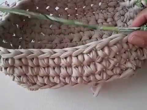 Tejer a croché canasta cuadrada - YouTube