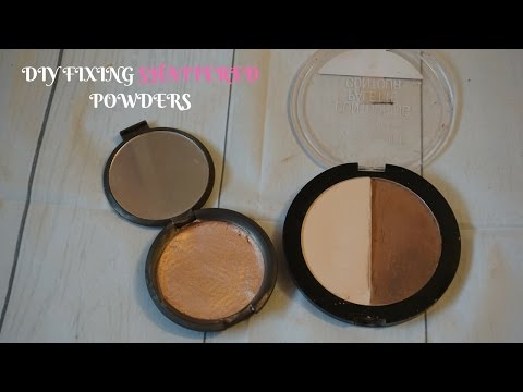 DIY FIX YOUR BROKEN POWDERS!! | Miranda Myers