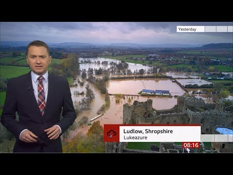 Weather Events 2019 – Flood warnings & rainfall (UK) – BBC – 16th November 2019