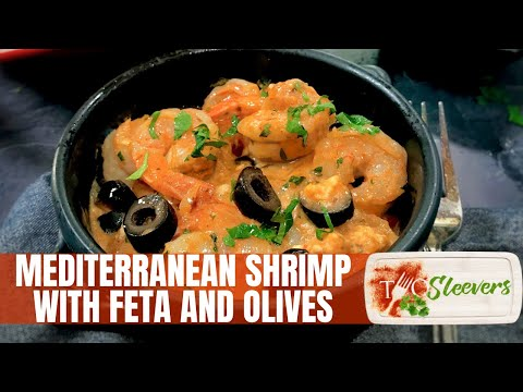 Mediterranean Shrimp With Feta and Olives Recipe
