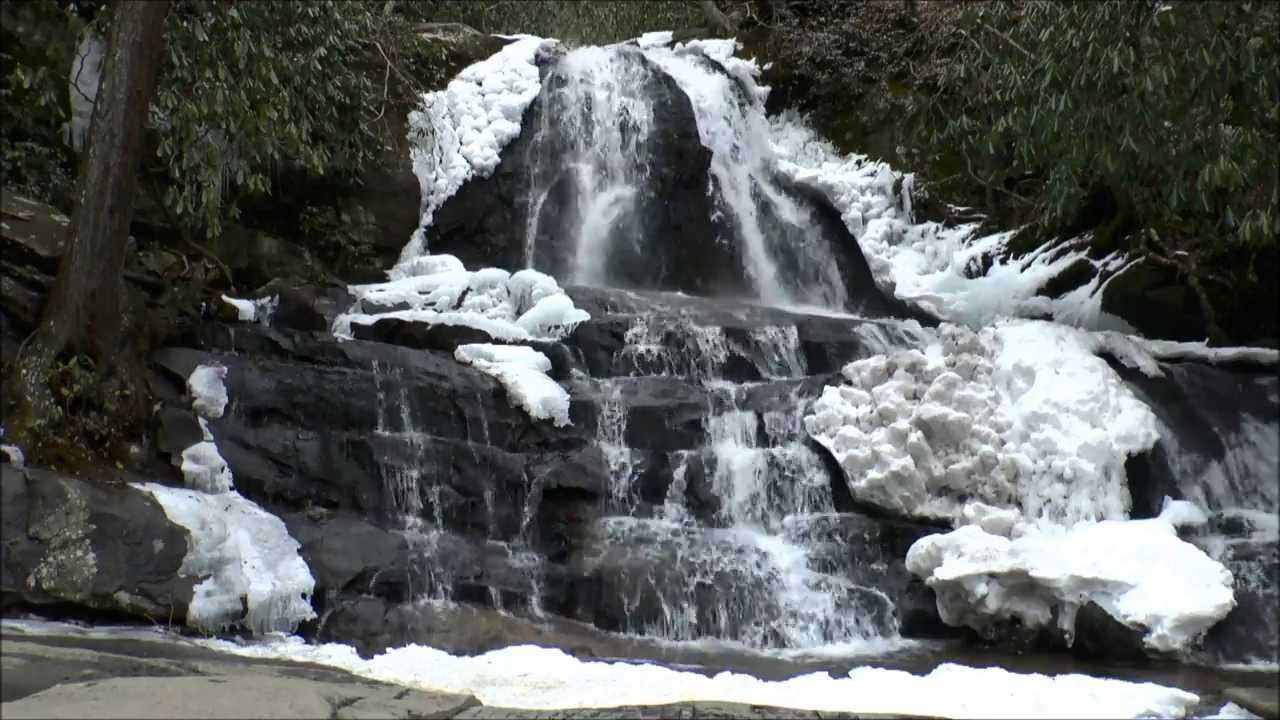 Gatlinburg In The Fall Wallpaper Ice Amp Snow At Laurel Falls Great Smoky Mountains National