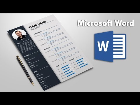 Creative Resume Template Design In Microsoft Word | CV Template