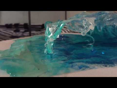 Resin Sculptures of Water and Waves