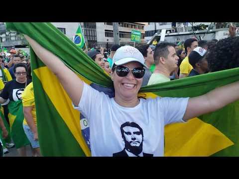 Passeata pró Jair Bolsonaro | Boa Viagem | Recife - PE | 60Fps [21/10/2018]