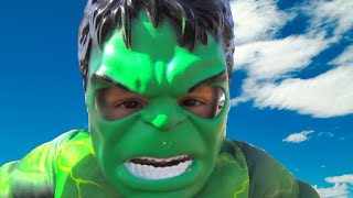 Damian wants to be strong - Incredible Hulk