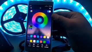 Bộ đèn led dây dán đổi nhiều màu RGB bóng 5050 siêu sáng,điều khiển bằng ứng dụng trên điện thoại.