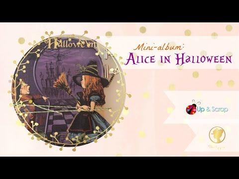 Tutorial Mini Album Pop Up Alice in Halloween