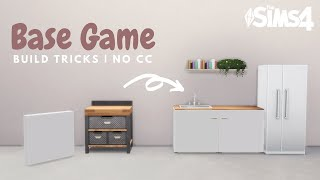 BASE GAME BUILD IDEAS | No CC or Mods | The Sims 4 Building Tutorial