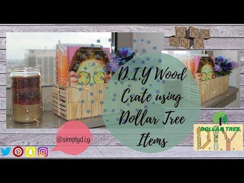 D.I.Y Wood Crate using Dollar Tree Items | Dollar Tree D.I.Y | Simply D.I.Y