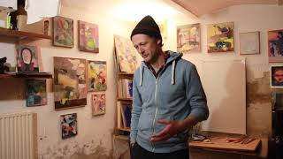 Christoph Holzeis in Fenster Nr 21 am Lienzer Kunstadventkalender