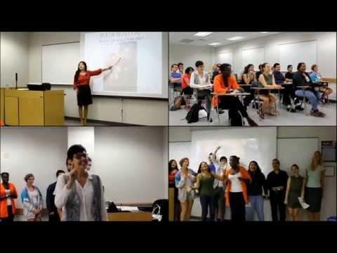 Chinese Class  Yajuan Huang 黄亚娟美国对外汉语教学课堂(中英字幕)