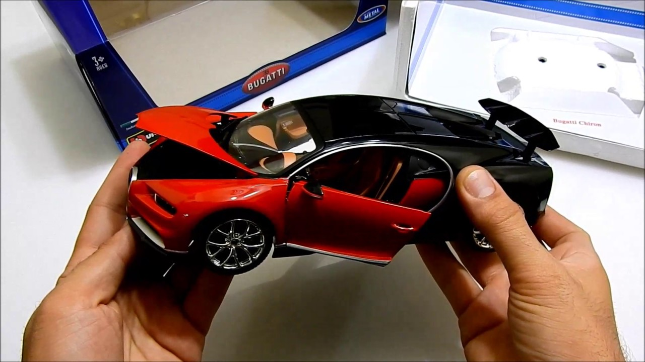bugatti chiron 1 18 by bburago unboxing youtube. Black Bedroom Furniture Sets. Home Design Ideas