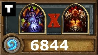 Hearthstone 6844 Rank 20 Warlock vs Warrior!