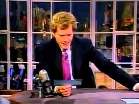 11-24-1986 Letterman Riquette Hofstein, Tom Poston, Bobby Rahal