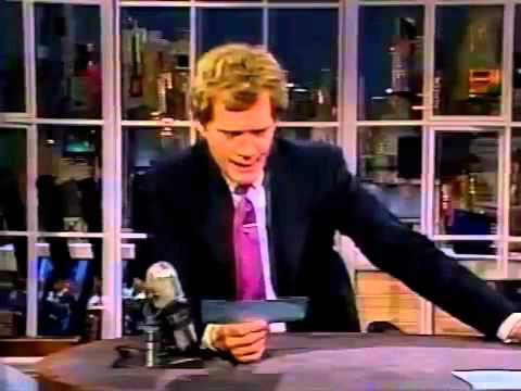11241986 Letterman Riquette Hofstein, Tom Poston, Bobby Rahal