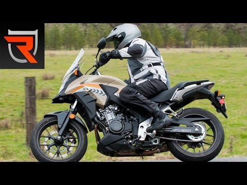 2016 Honda CB500X ABS Motorcycle First Test Review Video | Riders Domain