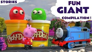 Giant Play Doh Peppa Pig English Episodes Thomas And Friends Surprise Eggs Pepa Toy Story Video