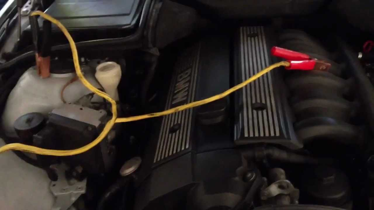 hight resolution of how to jumpstart a car battery from 97 03 bmw 5 series e39 528i 525i 530i 540i m5 youtube