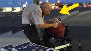 Jeder ignoriert diesen alten Mann, der jede Nacht auf der Straße sitzt, bis jemand den Grund erkennt