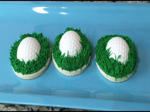 Golf Ball In Grass Father's Day Cookies (How To)