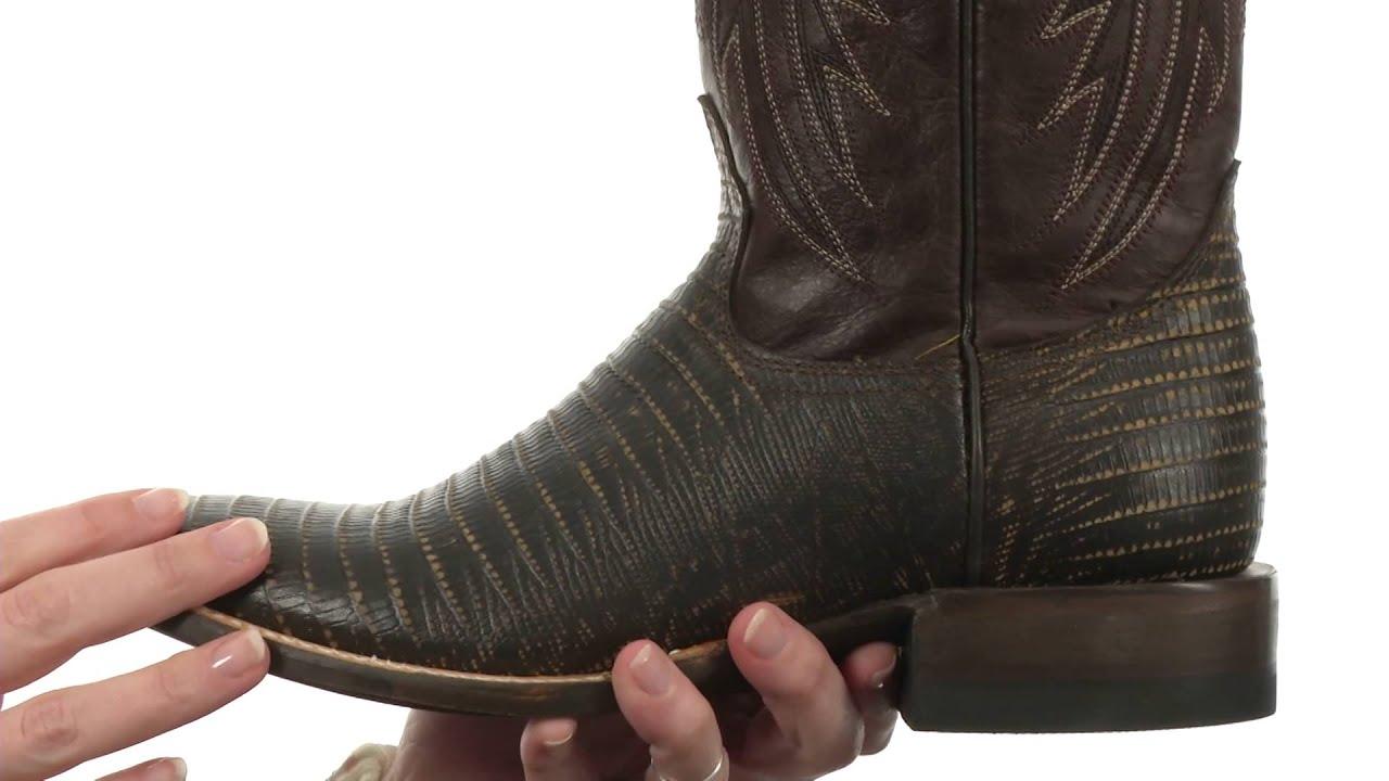 Men/'s Roper Teju Lizard Print Boots Handcrafted