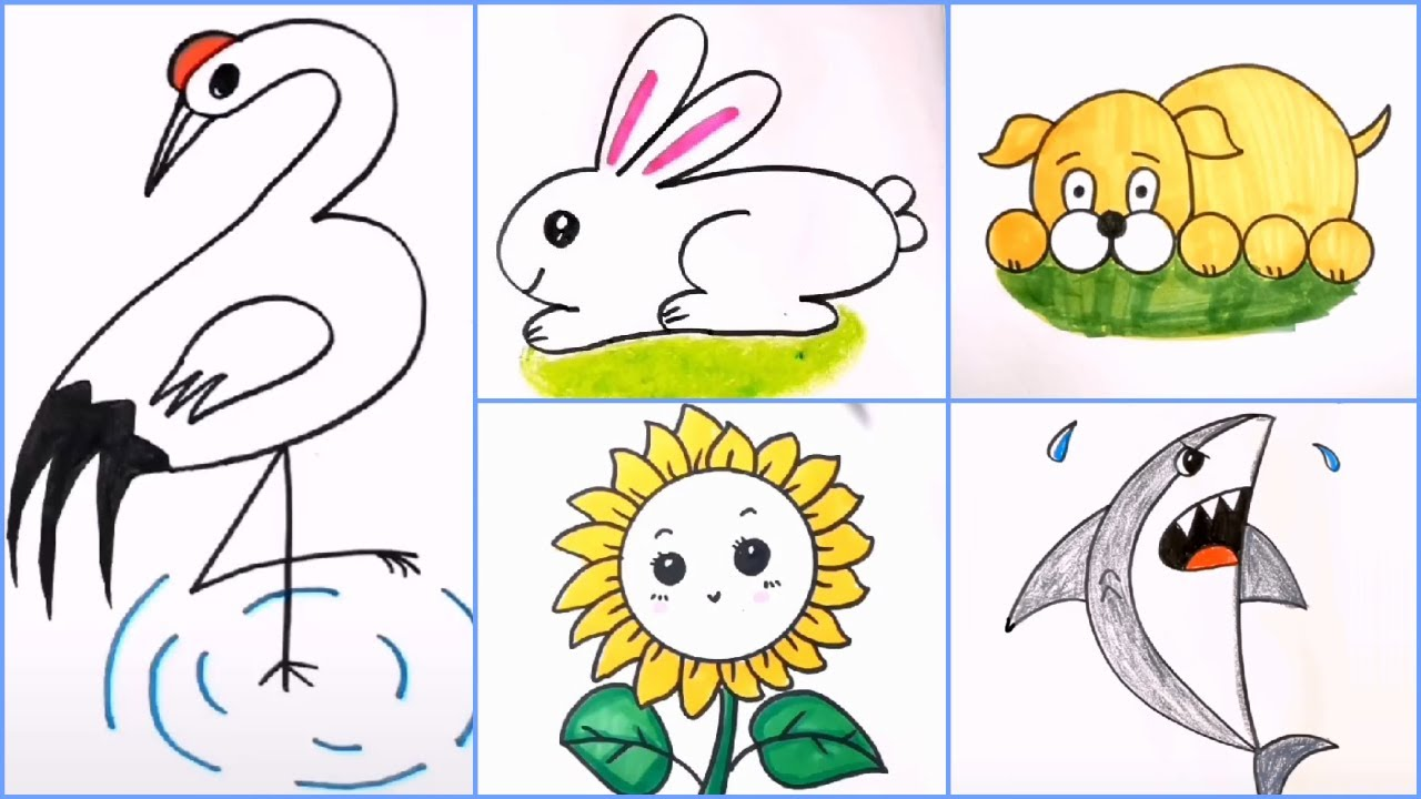 20 EASY DRAWING IDEAS FOR KIDS AND BEGINNERS