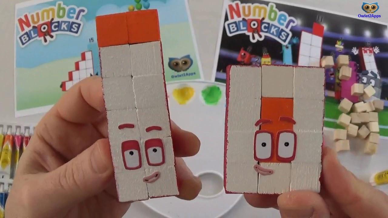 Wood Number Blocks