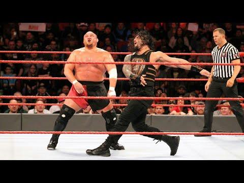 Roman reigns vs Samoa joe - intercontinental  championship match.1st january 2018 wwe raw thumbnail