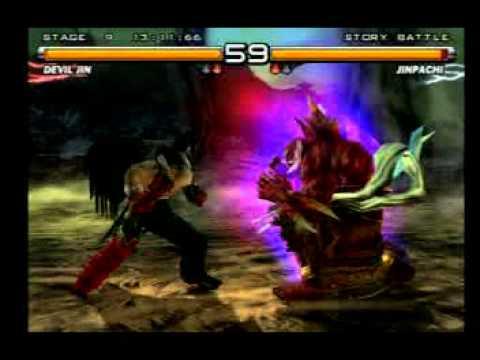 Tekken 5 - Devil Jim Brincando Jinpachi Final - YouTube