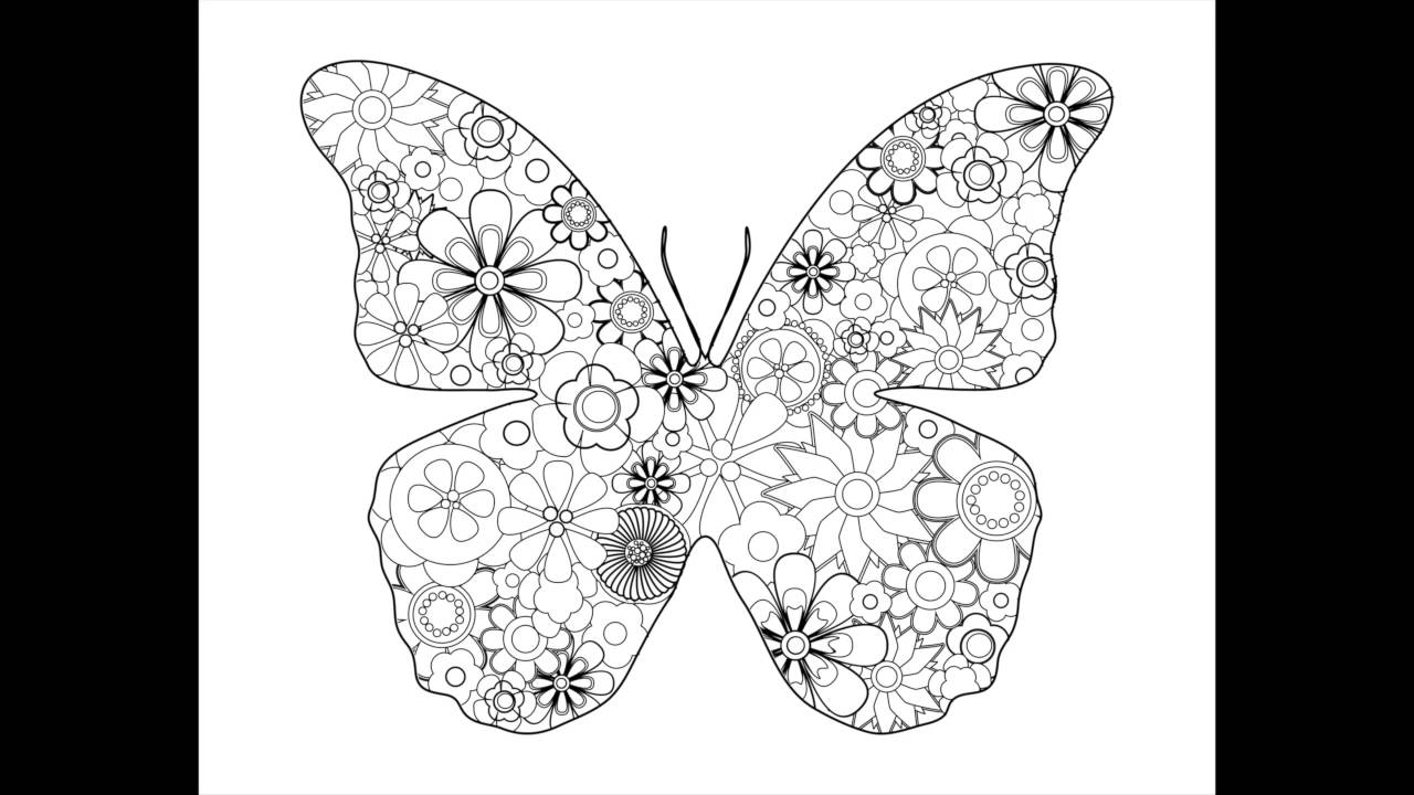 Fancy Flowers & Beautiful Butterflies • Oui Color Coloring