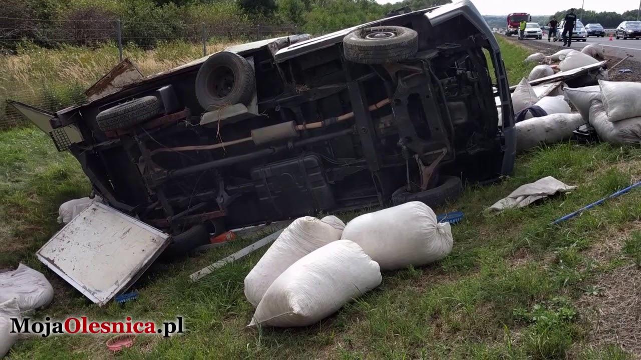 28.08.2017 Syców, S8 – wypadek ciężarówek