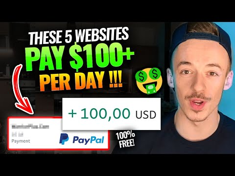 5 Websites To Make $100+ Per Day Working From Home | Make Money Online For Beginners 2021